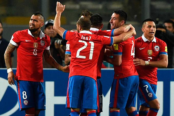 Selección Chilena celebrando 1